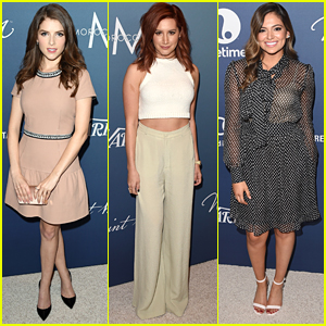 Ashley Tisdale Debuts Super Red Hair At Variety's Power Of Women Event With Anna Kendrick