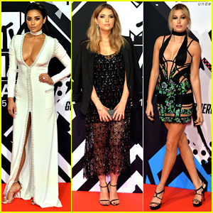 Shay Mitchell & Ashley Benson Wow At MTV EMAs with Hailey Baldwin