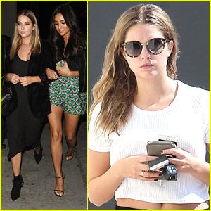 Ashley Benson Treats Shay Mitchell To Dinner After 'Bliss' Book Signing