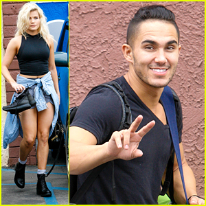 Carlos PenaVega Wishes Witney Carson 'Happy Birthday' At DWTS Practice
