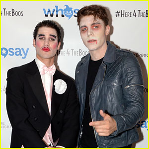 Nolan Funk Dresses Up for Halloween with Buddy Darren Criss!