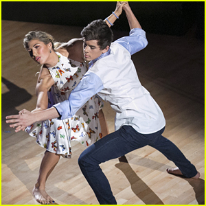 Emma Slater Has Hayes Grier Up In 'Stitches' For DWTS Contemporary Dance - See The Pics!