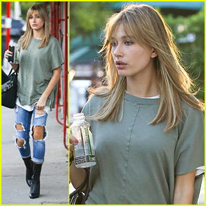 Hailey Baldwin Rocks Ripped Jeans Before Wishing Bella Hadid Happy Birthday