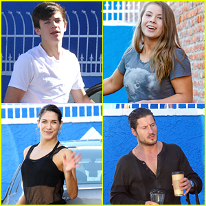 Val Chmerkovskiy Gives Cute Shout Out To Fans Before DWTS Practice with Bindi Irwin