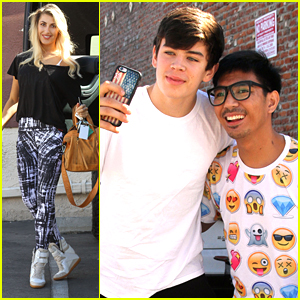 Hayes Grier Signs With CAA After DWTS Practice with Emma Slater