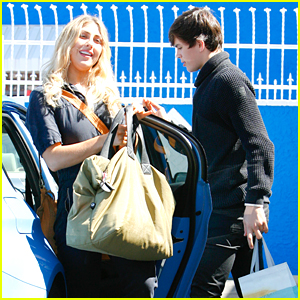 Hayes Grier Opens The Car Door For Emma Slater At DWTS Studio, Proving He's A True Gentleman