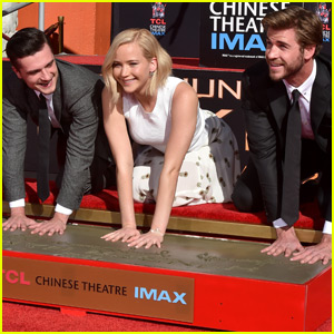 Jennifer Lawrence & Josh Hutcherson Put Their Mark On Hollywood For 'The Hunger Games'