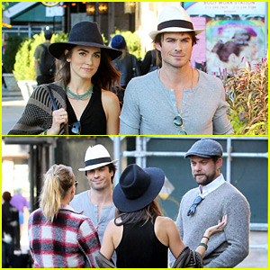Ian Somerhalder & Nikki Reed Have a Run-In with Another Famous Pair