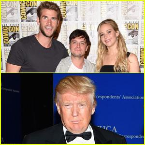 Jennifer Lawrence, Liam Hemsworth, & Josh Hutcherson Talk About Donald Trump's Presidential Bid
