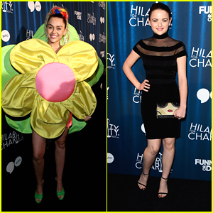 Miley Cyrus Dresses As Giant Flower For Hilarity For Charity Event