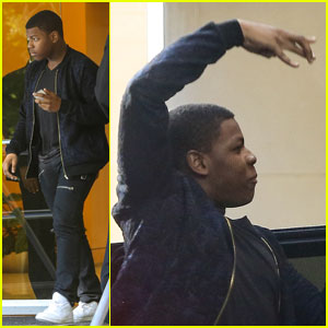Star Wars' John Boyega Flashes West Side Sign