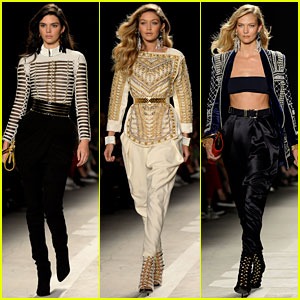 Kendall Jenner & Gigi Hadid Strut Their Stuff for Balmain x H&M!