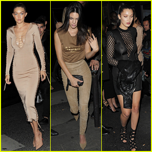 Gigi & Bella Hadid Party at Balmain with Kendall Jenner