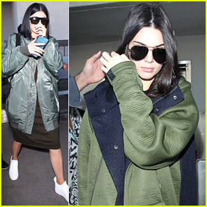 Kendall & Kylie Jenner Make It A Short Trip To NYC; Arrive Back In LA Together