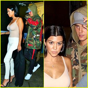 Justin Bieber Parties the Night Away with Kourtney Kardashian
