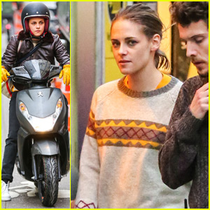 Kristen Stewart Looks Like a Pro While Riding Vespa for 'Personal Shopper'