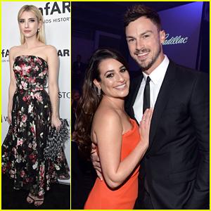 Lea Michele & Matthew Paetz Couple Up at amfAR Inspiration Gala!