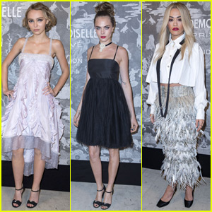 Lily-Rose Depp & Cara Delevingne Shine at London Exhibition