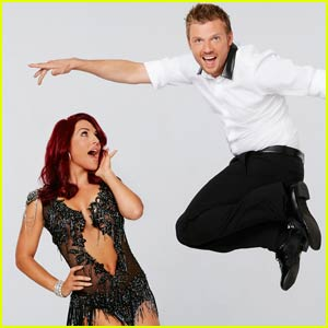 Nick Carter Remembers 1996 While Doing the Jazz With Sharna Burgess on 'DWTS' - Watch Now!