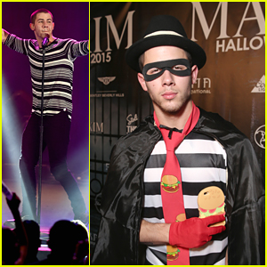 Nick Jonas Dresses Up As Hamburgler After Playing Two Gigs In One Night