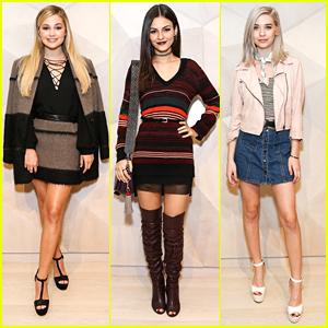 Olivia Holt, Amanda Steele & Victoria Justice Celebrate Grand Opening Of Rebecca Minkoff's LA Store