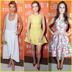 Sarah Hyland & Zoey Deutch Step Out for No Kid Hungry Benefit Dinner