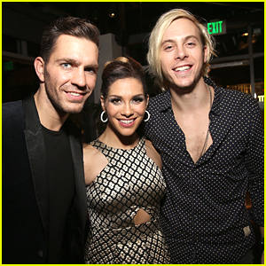 Team Rallison Reunites! Riker Lynch Supports Allison Holker at DWTS Halloween Show & After Party