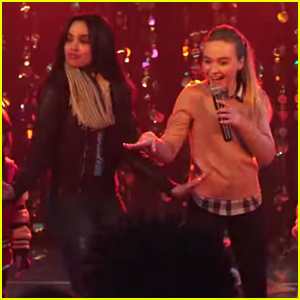 Sofia Carson & Sabrina Carpenter Are the Best Babysitters Ever in 'Adventures in Babysitting' Teasers... Right?