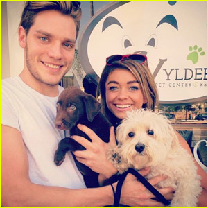 Sarah Hyland & Dominic Sherwood Adopt a Dog - Find Out Her Name!