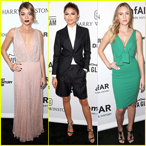 Sarah Hyland & Zendaya Glam Up for the amfAR Inspiration Gala!