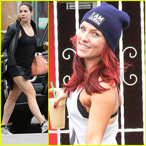 Sharna Burgess Joins Troupe Dancers For 'DWTS' Practice