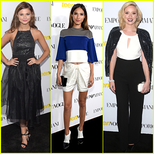 Stefanie Scott & Kelsey Chow Step Out For Teen Vogue's Young Hollywood Party With A Super Blonde Greer Grammer