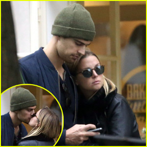 Theo James Kisses Girlfriend Ruth Kearney During Stroll in Prague
