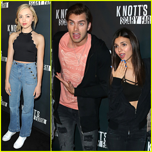 Victoria Justice & Peyton List Get A Fright At Knott's Scary Farm