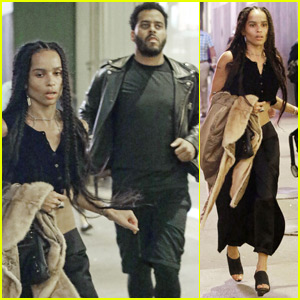 Zoe Kravitz Rushes to Broadway's 'Hamilton' Performance With Twin Shadow