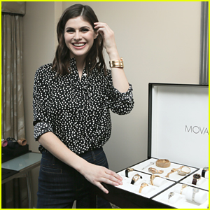Alexandra Daddario Steps Out For Movado's New Collection Preview After 'The Choice' Poster Reveal