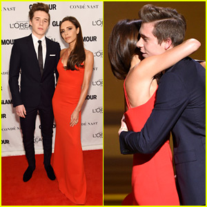 Brooklyn Beckham Joins Mom Victoria at Glamour's Women of the Year 2015