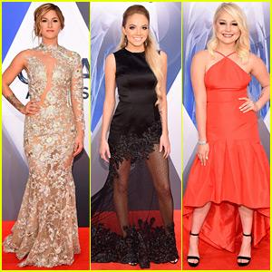 'The Voice' Winners Cassadee Pope & Danielle Bradbery Walk CMA Awards 2015 Red Carpet!