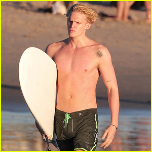 Cody Simpson Hits the Waves Shirtless in Pre-Halloween Surf Sesssion