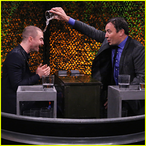 Daniel Radcliffe Has A Water Fight With Jimmy Fallon - Watch Now!