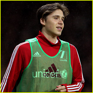 Brooklyn Beckham Plays Soccer with Dad David for UNICEF Charity Match