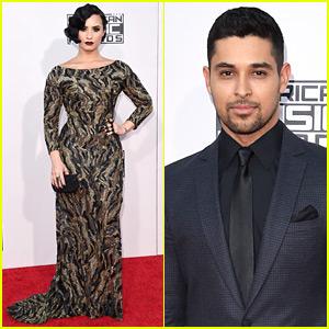 Demi Lovato & Boyfriend Wilmer Valderrama Step Out for AMAs 2015!