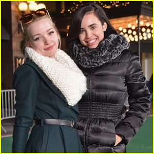 Dove Cameron & Sofia Carson Get Ready for the Macy's Thanksgiving Day Parade
