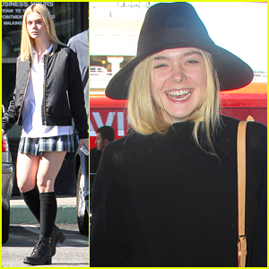 Elle Fanning Left Homeschooling Behind For Proms & Friends