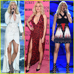 Ellie Goulding Rocks Three Looks for Victoria's Secret Fashion Show 2015!