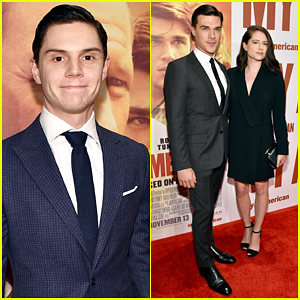Evan Peters Supports Finn Wittrock At 'My All American' Premiere!