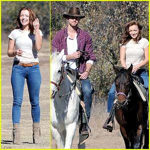 Francesca Eastwood & Pierson Fode Hang Out on Horseback