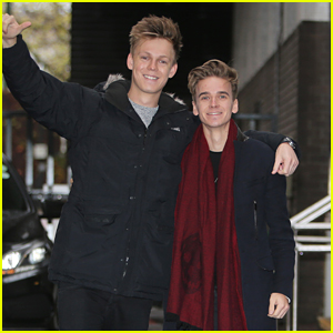Casper Lee & Joe Sugg Meet A Legend While Promoting 'Joe and Caspar Hit the Road'