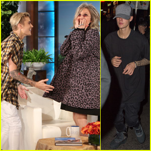 Diane Keaton Totally Fangirls Out Over Justin Bieber on 'Ellen' - Watch Now!