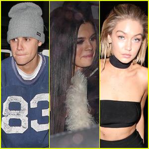 Selena Gomez, Gigi Hadid, Hailey Baldwin & More Hit Up Justin Bieber's Post-AMAs Party!